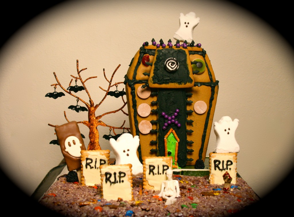 Halloween fun in a SPOOKY rice krispie treat graveyard!