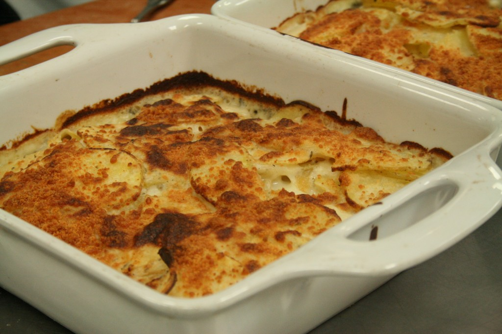 Ingredients for Yukon Potato Gratin with Parmesan-Rosemary Bechamel: