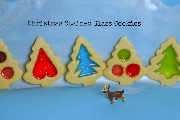 Christmas Stained Glass Cookies -