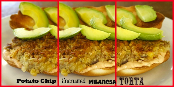 Potato Chip Encrusted Milanesa Torta Served With A Chipotle Tartar ...