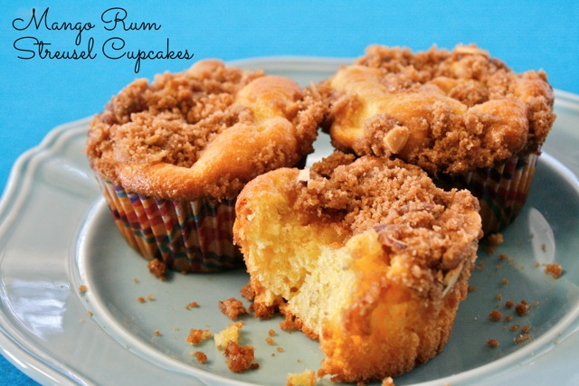 My Heart Belongs To Mango Rum Streusel Cupcakes -