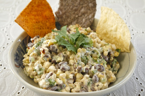 Warm Mexican Corn, Black Bean, and Cotija Salad: Esquites Recipe -