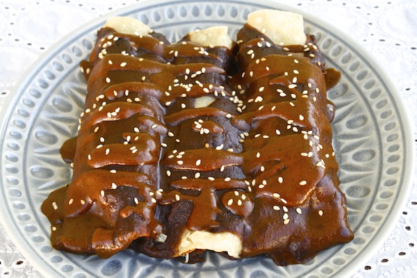 turkey-mole-enchiladas