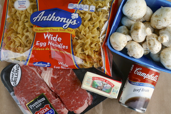 Beef-Stroganoff-Ingredients