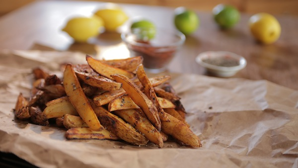 Baked Lemon Lime Chipotle French Fries (video)