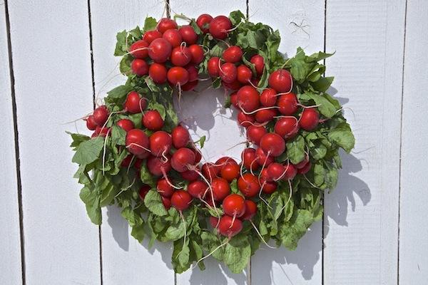 Springtime radish wreath