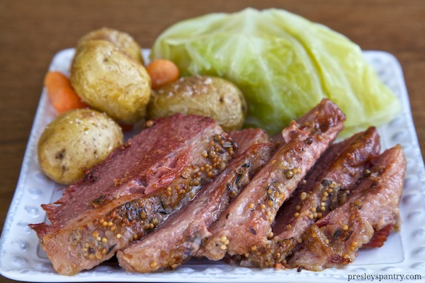slow cooker corned beef and cabbage for Saint Patrick's Day