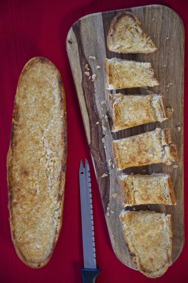 Cheesy garlic bread made with Mama Francesca Parmesan Cheese