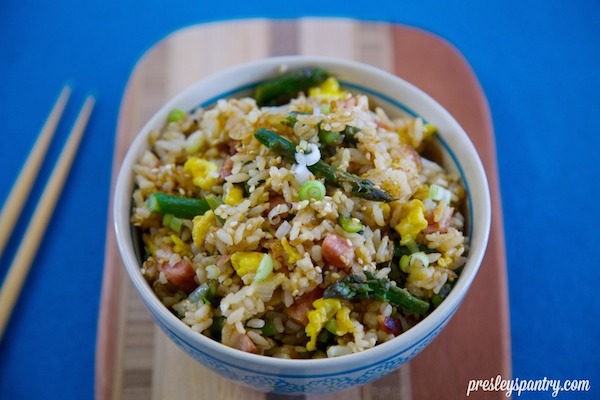 Asparagus Pork Fried Rice