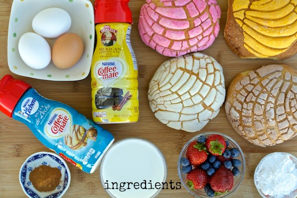 ingredients for pan dulce french toast