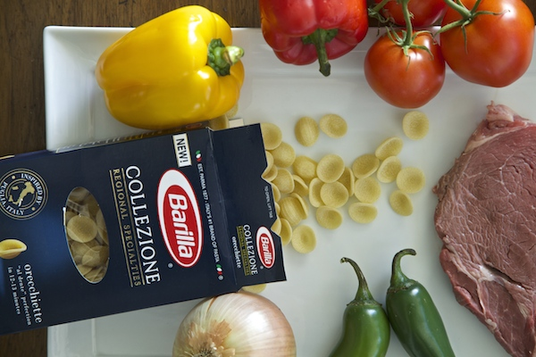 Ingredients for steak picado with Barilla pasta  #ItsPossibleWithBarilla