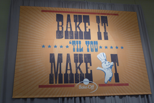 "Pillsbury Bake-off ""bake it til you make it"" banner"
