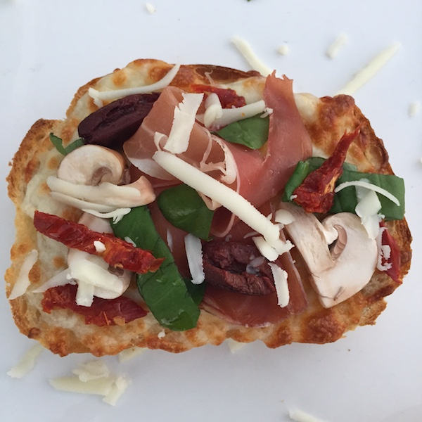 Gourmet cheese toast made on sourdough bread with Cacique Oaxaca cheese