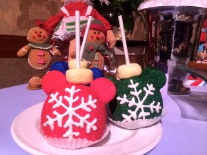 Candied holiday apples at Disneyland