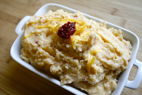 creamy cheddar chipotle mashed potatoes