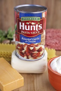 Hunt's pasta sauce makes the perfect base for manwich lasagna rolls. Get all the ingredients at Walmart.