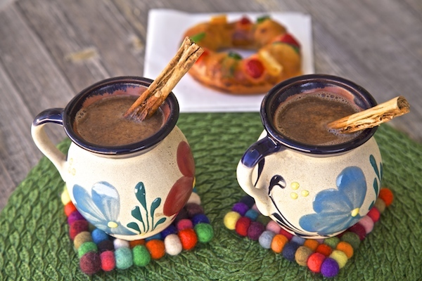 This chocolate caliente is made with a water base which really allows you to taste the melted chocolate, a little milk is added after.
