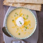 Loaded Mashed Potato Cheese Soup!