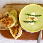 Lucky Green Asparagus Leek Soup!