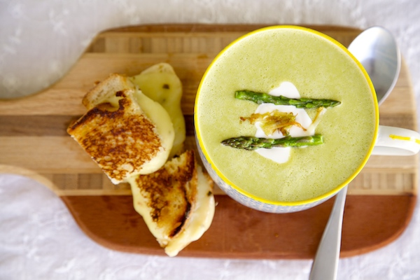 Asparagus leek soup is the perfect way to enjoy St. Patrick's Day.