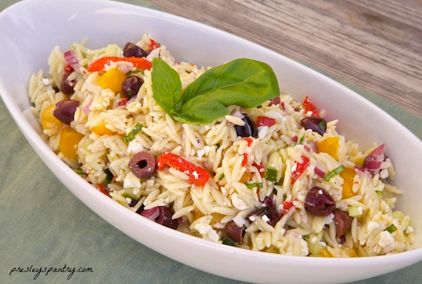 Tasty olive orzo salad is perfect for a afternoon lunch, or your next gathering. I used Kalamata pearl olives to go and got them at Walmart.