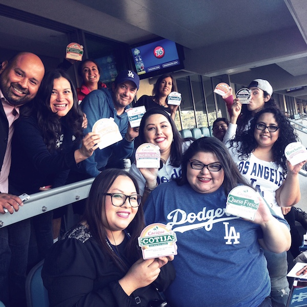 The Cacique Double Header night at Dodger stadium with all the Cacique guests.