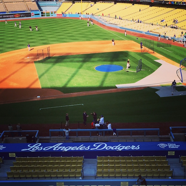The view of Dodger stadium.