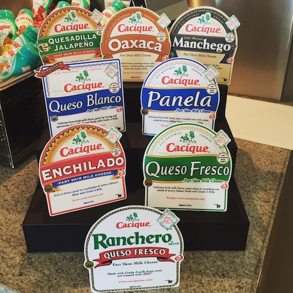 The wide variety of cacique cheeses