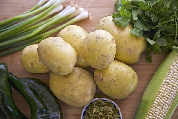 The key ingredients to spicy potato salad.