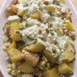 Pasilla Cilantro Spicy Potato Salad