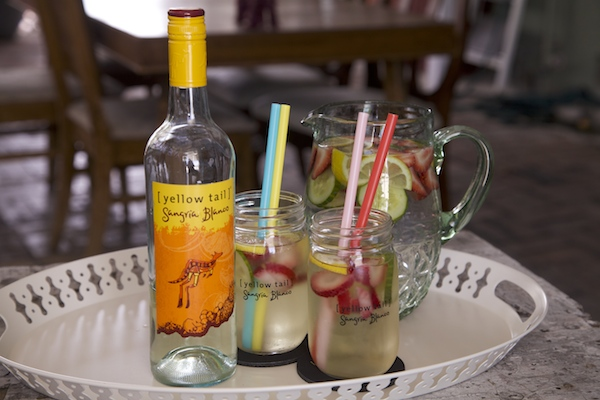A delicious sangria refresco made with Yellow Tail Sangria blanco