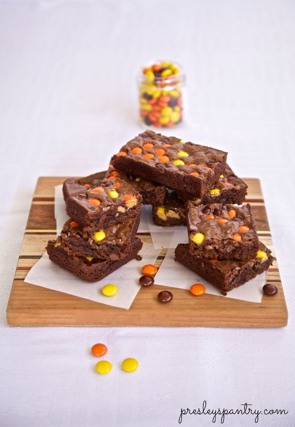Taking these reese's pieces brownies to go see E.T.