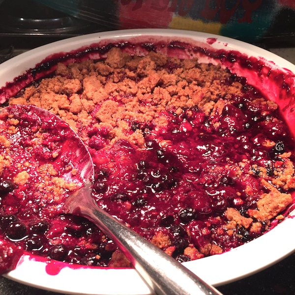 the delicious berry crisp at PCH Grill