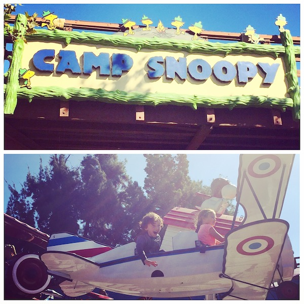 Kids having fun at Camp Snoopy at Knott's Berry Farm