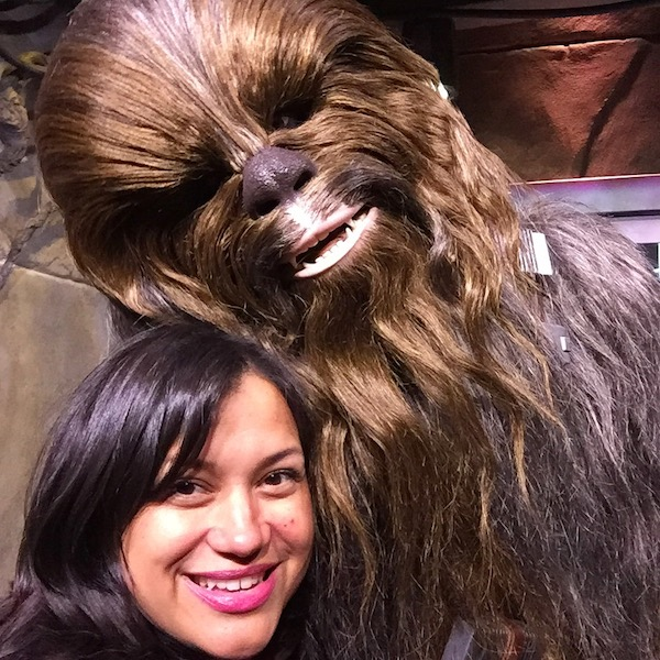 My selfie with Chewbacca