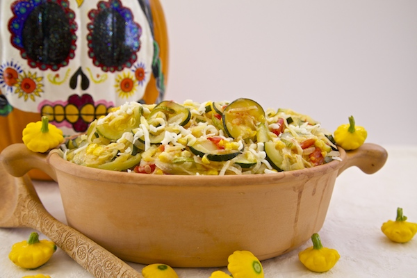 These traditional calabacitas are made with Cacique cheese