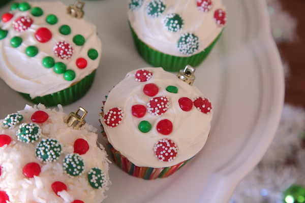 Take a closer look of the ornament cupcake.