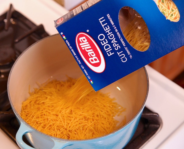 Barilla cut spaghetti doubles down as fideo