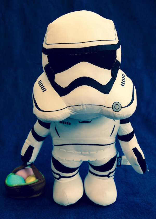 Stuffed storm trooper for Easter