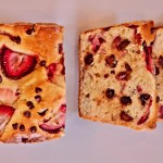 Strawberry Chocolate Chip Almond Loaf