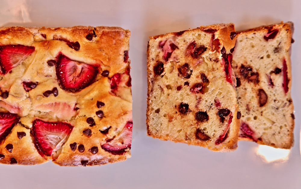 Strawberry Chocolate Chip Almond Loaf is simple to make and even better to eat.