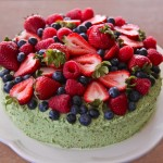 Olive Oil Pistachio Buttercream Berry Cake