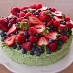 Olive Oil Pistachio Buttercream Berry Cake