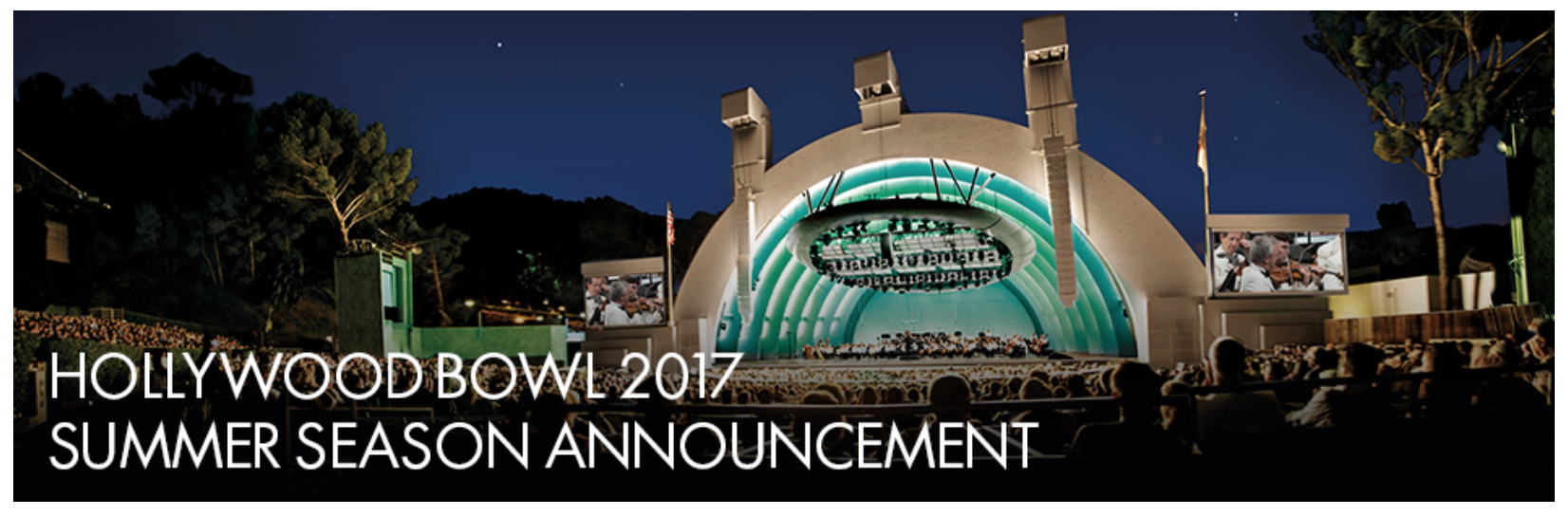 Hollywood Bowl 2017 season