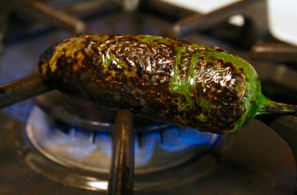 Charred jalapeno chile