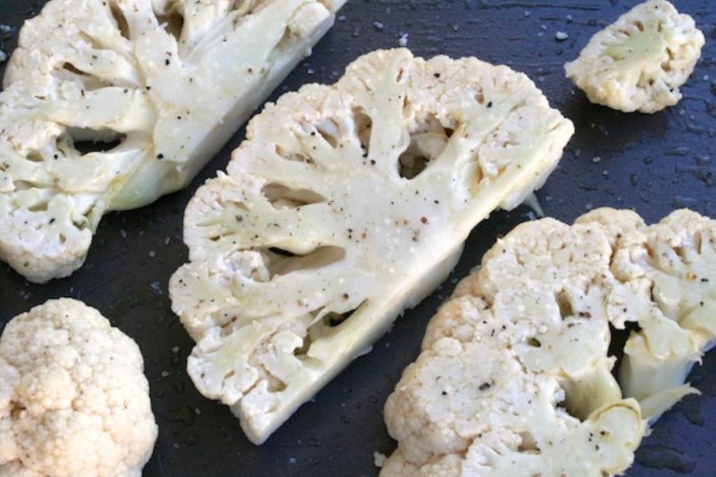 2 inch thick cauliflower slices