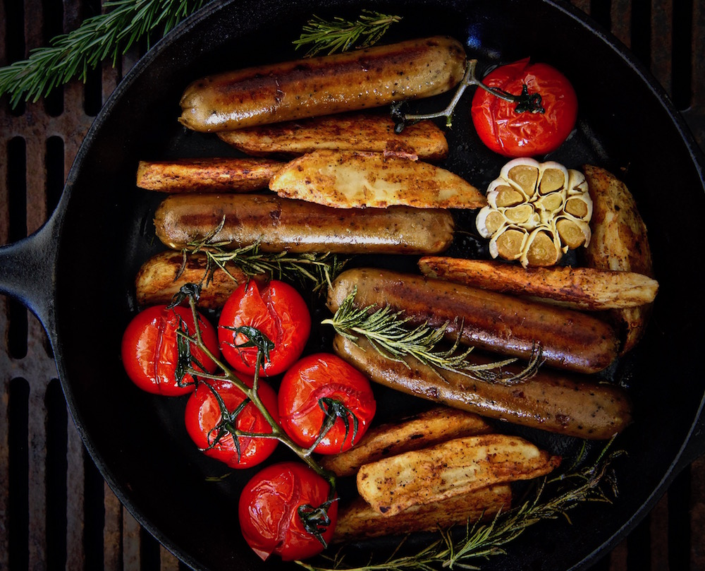 Old Country Vegetarian Sausage And Potato Oven Roasted Skillet