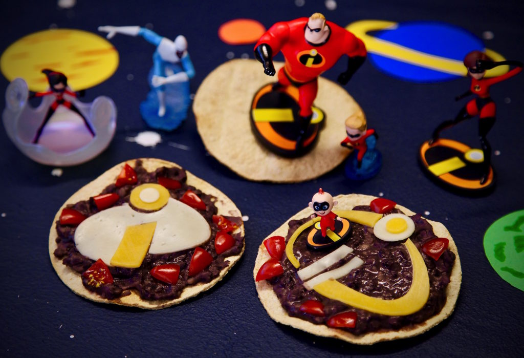 INCREDIBLES 2 Black bean Tostadas