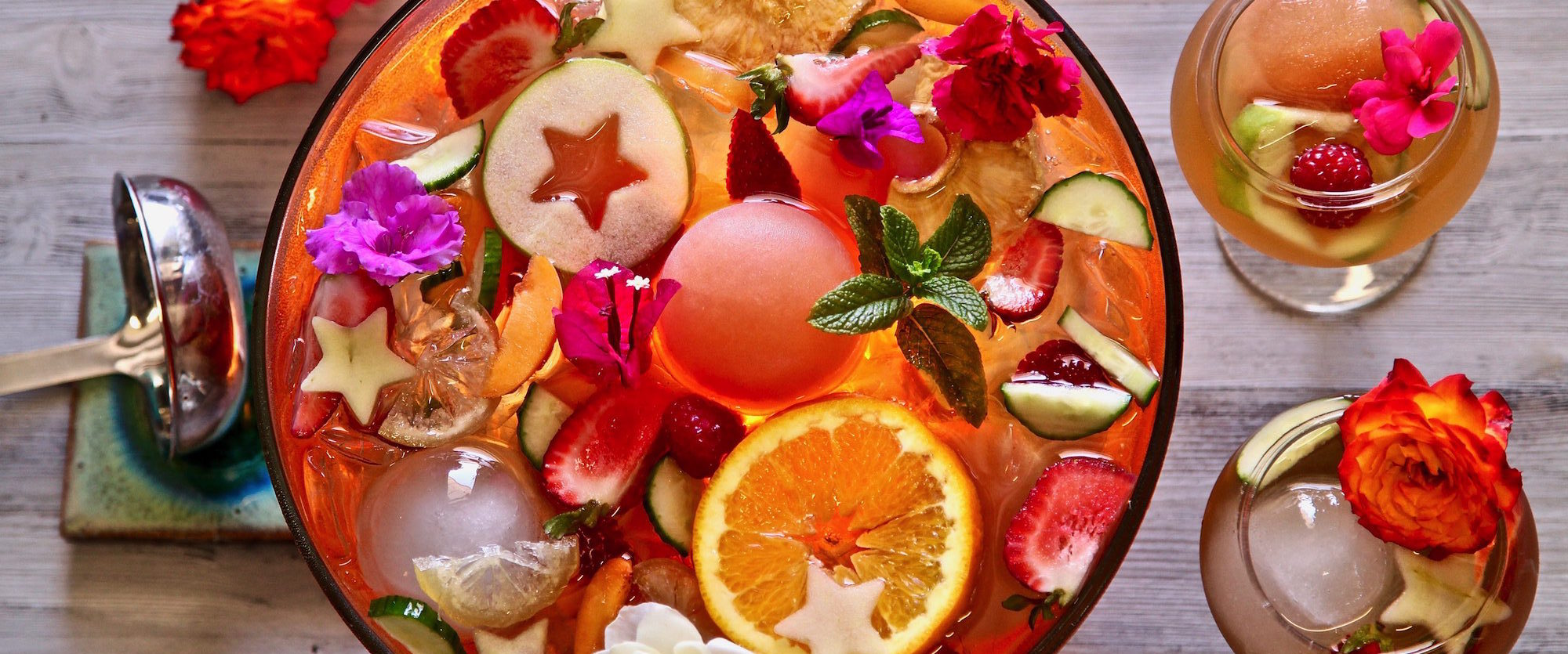 TADIN Fruity Iced Tea Punch Bowl