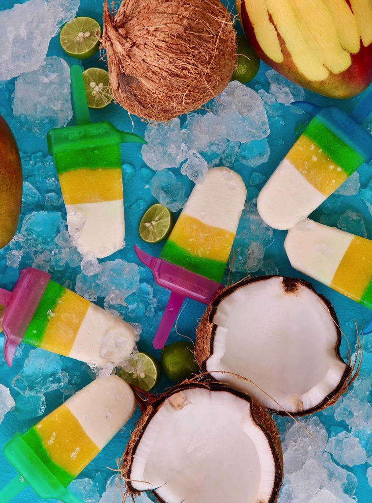 Kicking off #PaletaWeek and the first day of Summer with my Lime Coconut Mango Paletas